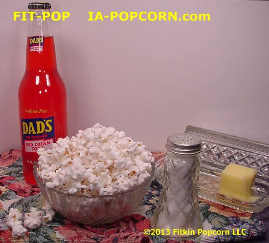 Bowl FIT-POP White Popcorn & DAD's Red Cream Soda